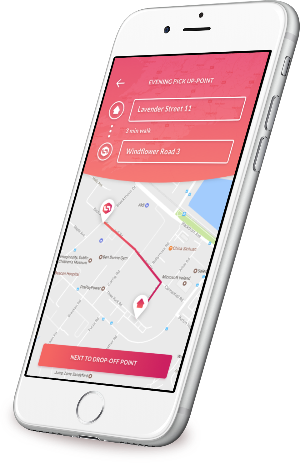 Passenger Bus App Walk Route - Web Android iOS